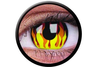 ColorVue Crazy-Kontaktlinsen - Flame Hot (2 St. 3-Monatslinsen) – ohne Stärke