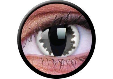 ColorVue Crazy-Kontaktlinsen - Grey dragon (2 St. 3-Monatslinsen) – ohne Stärke