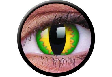 ColorVue Crazy-Kontaktlinsen - Green Dragon (2 St. 3-Monatslinsen) – mit Stärke