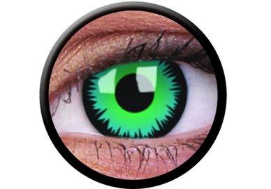 ColorVue Crazy-Kontaktlinsen - Green Werewolf (2 St. 3-Monatslinsen) – mit Stärke