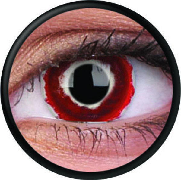 ColorVue Crazy-Kontaktlinsen - Hellblazer (2 St. 3-Monatslinsen) – ohne Stärke