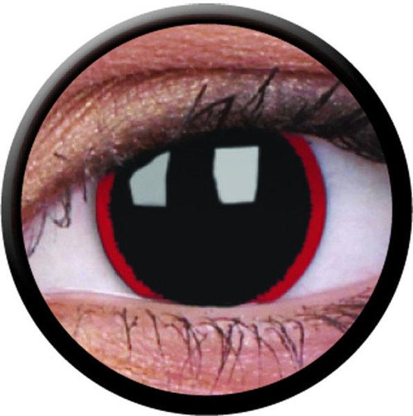 ColorVue Crazy-Kontaktlinsen - Hell Raiser (2 St. 3-Monatslinsen) – mit Stärke