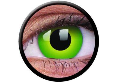 ColorVue Crazy-Kontaktlinsen - Hulk Green (2 St. 3-Monatslinsen) – ohne Stärke