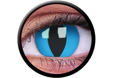ColorVue Crazy-Kontaktlinsen - Cheshire Cat (2 St. 3-Monatslinsen) – ohne Stärke