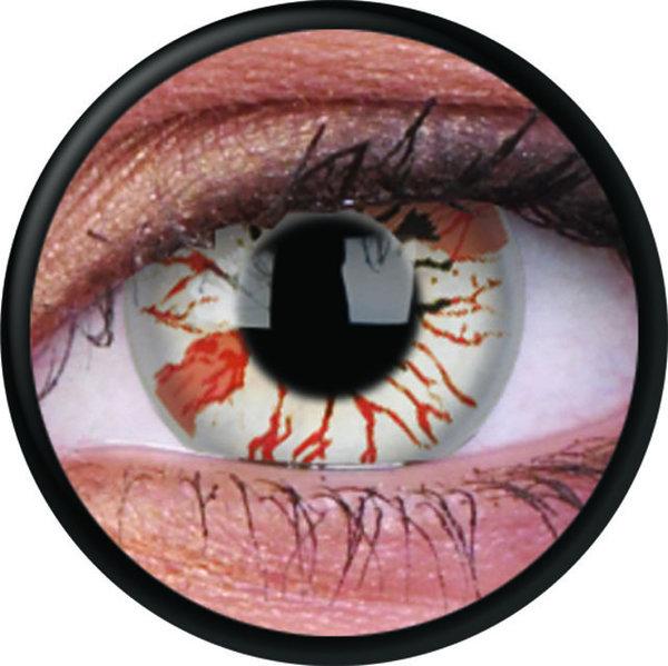 ColorVue Crazy-Kontaktlinsen - Jigsaw (2 St. 3-Monatslinsen) – ohne Stärke