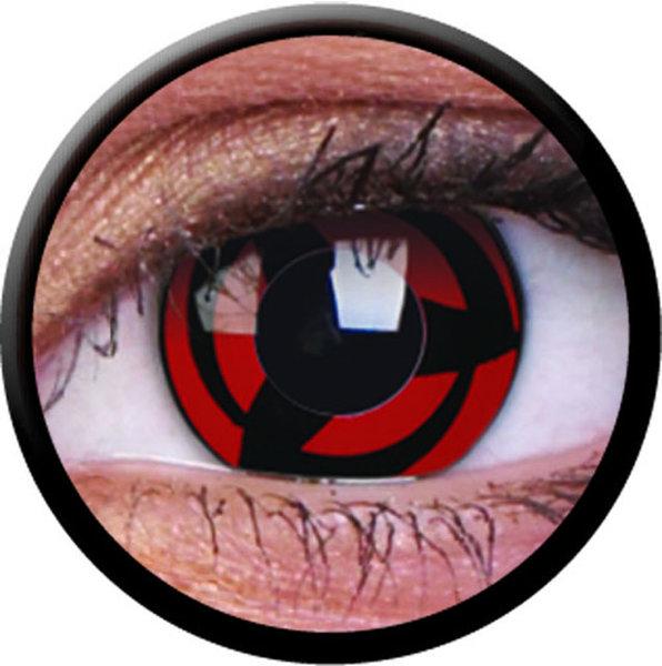 ColorVue Crazy-Kontaktlinsen - Kakashi (2 St. 3-Monatslinsen) – ohne Stärke