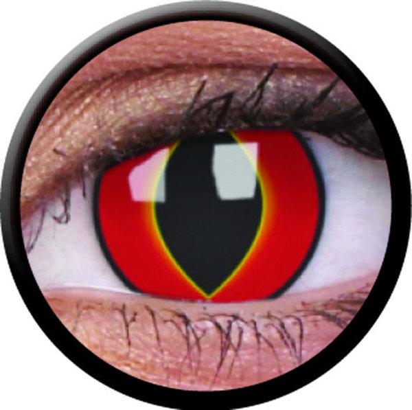 ColorVue Crazy-Kontaktlinsen - Mad Frog (2 St. 3-Monatslinsen) – ohne Stärke