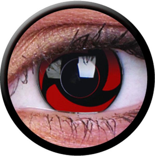 ColorVue Crazy-Kontaktlinsen - Mangekyu (2 St. 3-Monatslinsen) – ohne Stärke