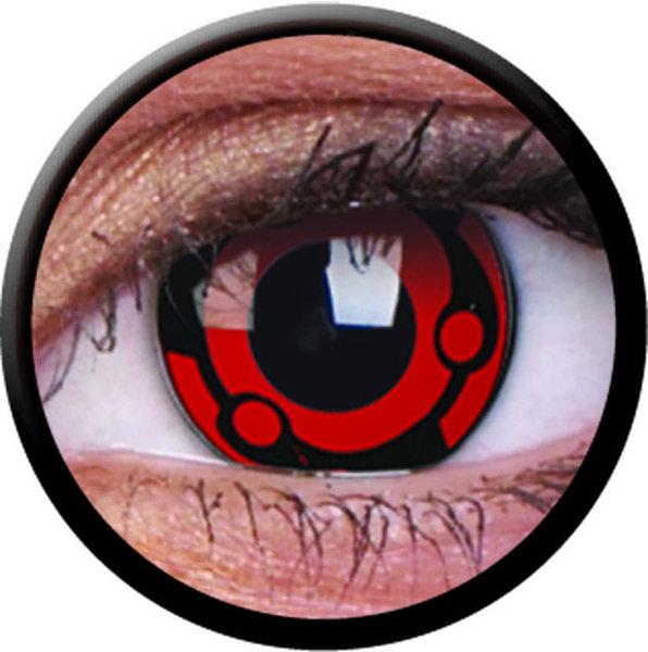 ColorVue Crazy-Kontaktlinsen - Madara (2 St. 3-Monatslinsen) – ohne Stärke