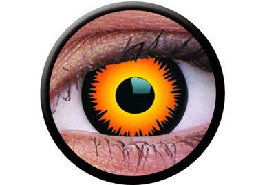 ColorVue Crazy-Kontaktlinsen - Orange Werewolf (2 St. 3-Monatslinsen) – ohne Stärke