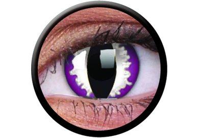 ColorVue Crazy-Kontaktlinsen - Purple Dragon (2 St. 3-Monatslinsen) – ohne Stärke