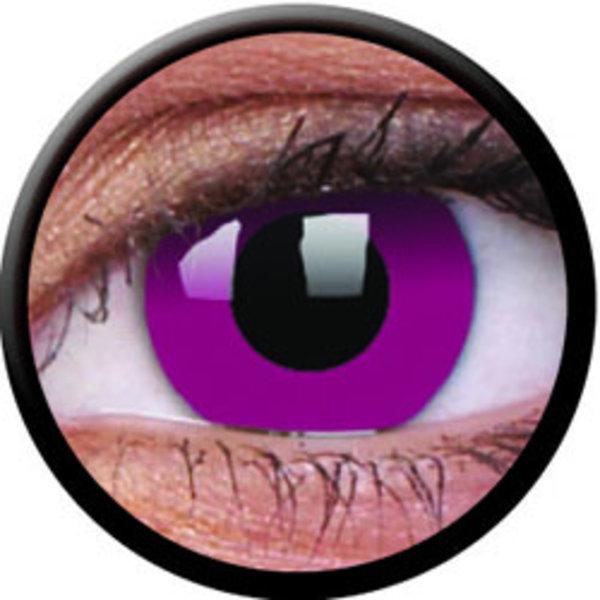 ColorVue Crazy-Kontaktlinsen - Purple (2 St. 3-Monatslinsen) – ohne Stärke