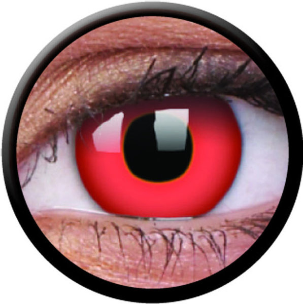 ColorVue Crazy-Kontaktlinsen - Red Devil (2 St. 3-Monatslinsen) – mit Stärke