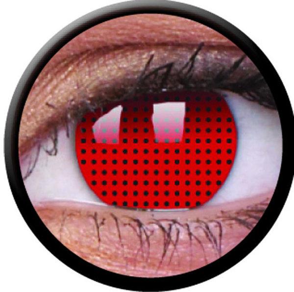 ColorVue Crazy-Kontaktlinsen -Red screen(2 St. 3-Monatslinsen) – ohne Stärke