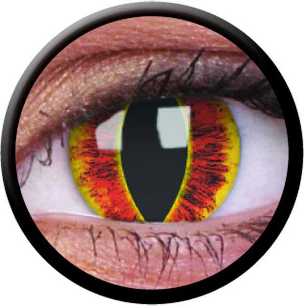 ColorVue Crazy-Kontaktlinsen -  Saufrons Eye (2 St. 3-Monatslinsen) – ohne Stärke