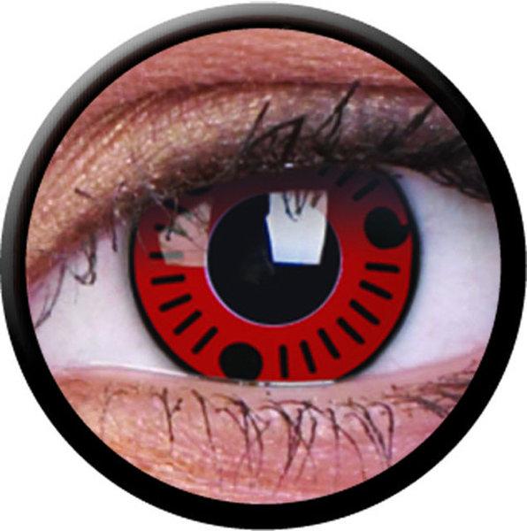ColorVue Crazy-Kontaktlinsen - Sasuke (2 St. 3-Monatslinsen) – ohne Stärke