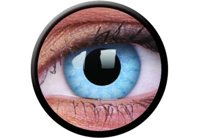 ColorVue Crazy-Kontaktlinsen - Solar blue (2 St. 3-Monatslinsen) – ohne Stärke