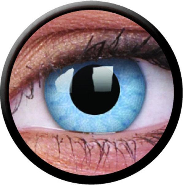 ColorVue Crazy-Kontaktlinsen - Solar Blue (2 St. 3-Monatslinsen) – mit Stärke