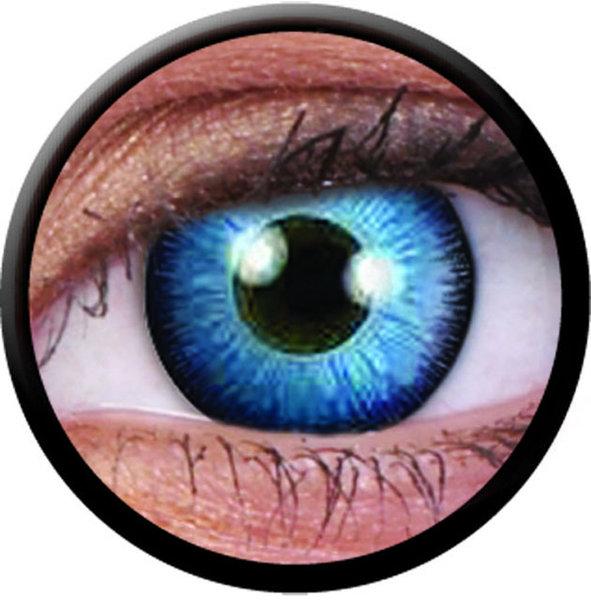 ColorVue Crazy-Kontaktlinsen - Space Blue (2 St. 3-Monatslinsen) – ohne Stärke