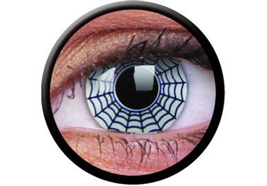 ColorVue Crazy-Kontaktlinsen - Spider (2 St. 3-Monatslinsen) – ohne Stärke