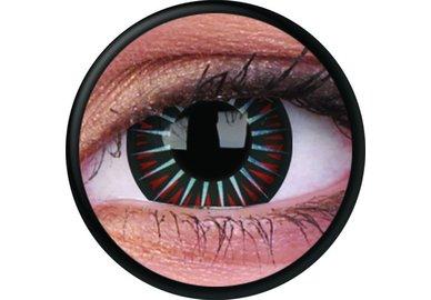 ColorVue Crazy-Kontaktlinsen - Symbiote (2 St. 3-Monatslinsen) – ohne Stärke