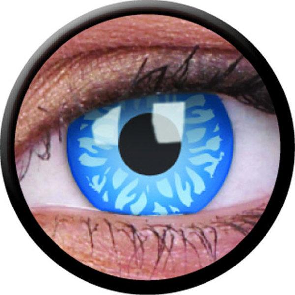 ColorVue Crazy-Kontaktlinsen - Underworld selene (2 St. 3-Monatslinsen) – ohne Stärke