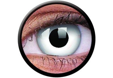 ColorVue Crazy-Kontaktlinsen - Whiteout (2 St. 3-Monatslinsen) – ohne Stärke