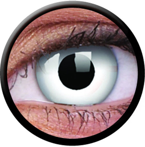 ColorVue Crazy-Kontaktlinsen - Whiteout (2 St. 3-Monatslinsen) – mit Stärke