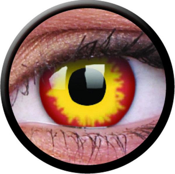 ColorVue Crazy-Kontaktlinsen - Wildfire (2 St. 3-Monatslinsen) – ohne Stärke