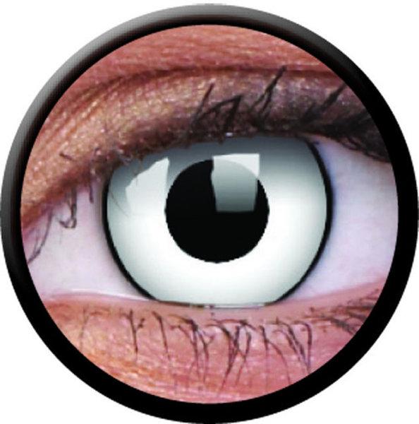 ColorVue Crazy-Kontaktlinsen - White Zombie (2 St. 3-Monatslinsen) – mit Stärke