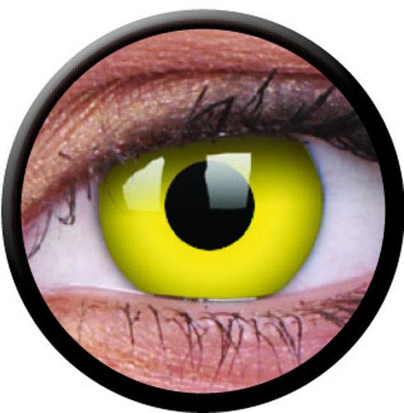 ColorVue Crazy-Kontaktlinsen - Yellow (2 St. 3-Monatslinsen) – mit Stärke
