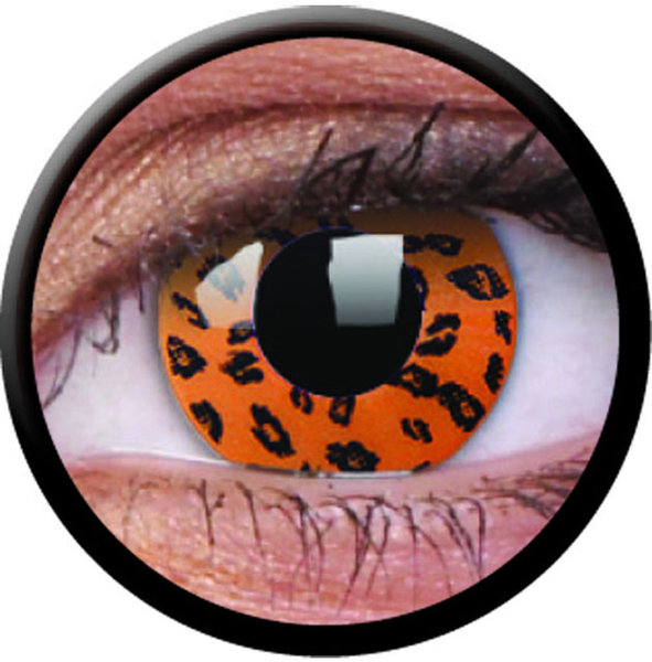 ColorVue Crazy-Kontaktlinsen - Yellow Leopard (2 St. 3-Monatslinsen) – ohne Stärke