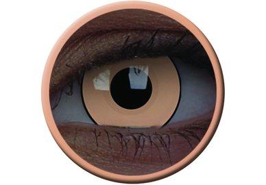ColorVue Crazy Kontaktlinsen UV leuchtend - Glow Luna Beige (2 St. Jahreslinsen) – ohne Stärke