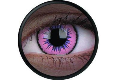 ColorVue Crazy Kontaktlinsen UV leuchtend - Glow Pink Jubilee (2 St. Jahreslinsen) – ohne Stärke