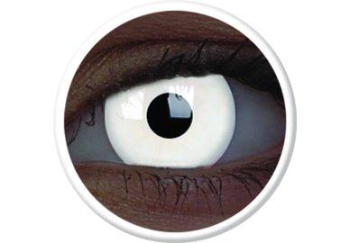 ColorVue Crazy Kontaktlinsen UV leuchtend - Glow White (Magic) (2 St. Jahreslinsen) – ohne Stärke