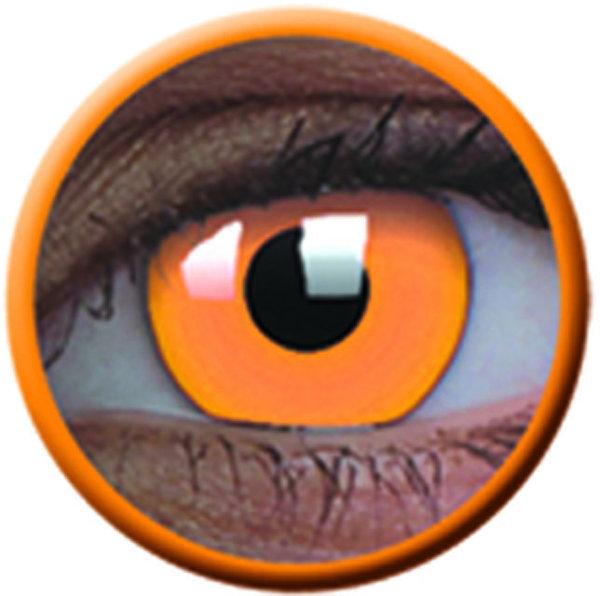 ColorVue Crazy Kontaktlinsen UV leuchtend - Glow Orange (2 St. Jahreslinsen) – ohne Stärke