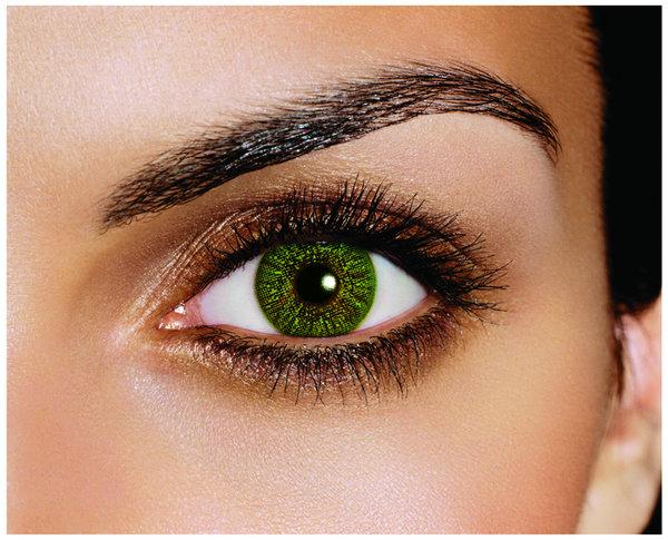 FreshLook Colors - Green (2 St. Monatslinsen) – mit Stärke